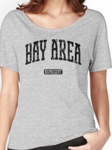 Bay Area Represent (Black Print) Women's Relaxed Fit T-Shirt