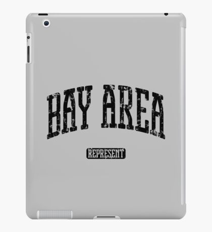 Bay Area Represent (Black Print) iPad Case/Skin