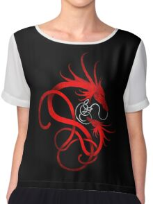Red Norse Dragon and Child Chiffon Top