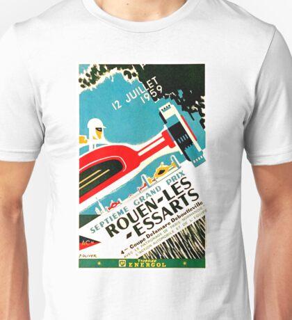 """ROUEN-LES-ESSARTS"" Grand Prix Auto Racing Print Unisex T-Shirt"