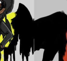 The Bat couple Sticker