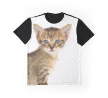 Geometric Cat Graphic T-Shirt