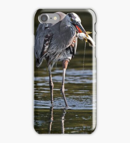 Great Blue Heron with Prized Fish iPhone Case/Skin