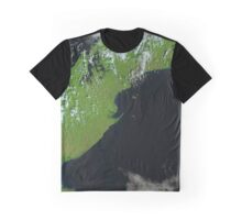 Satellite Image Panama Canal Central America Graphic T-Shirt