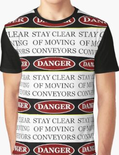 Danger stay clear of moving conveyor construction sign vector png Graphic T-Shirt