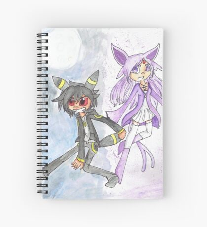 Umbreon and Espeon Spiral Notebook