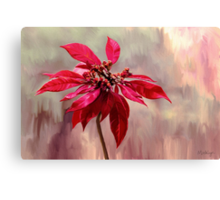 Poinsettia Painting Canvas Print