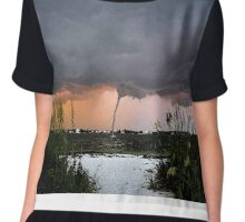 Waterspout Chiffon Top