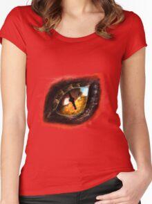 Fire Dragon Eye Women's Fitted Scoop T-Shirt