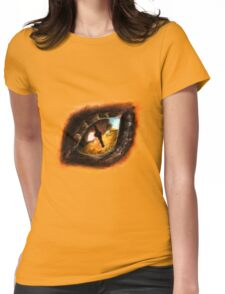 Fire Dragon Eye Womens Fitted T-Shirt
