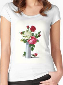 Vintage Roses Women's Fitted Scoop T-Shirt