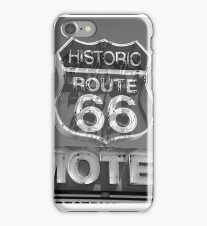 Route 66 motel sign iPhone Case/Skin