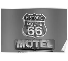 Route 66 motel sign Poster