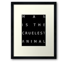 Man Is The Cruelest Animal - True Detective Framed Print