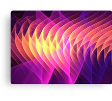 Magenta Gold Waves Canvas Print