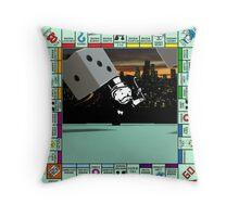Monopoly Retro Game Board Throw Pillow