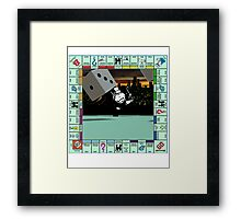 Monopoly Retro Game Board Framed Print