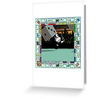 Monopoly Retro Game Board Greeting Card