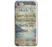 Emerson inspirational quote about life iPhone Case/Skin