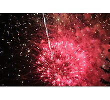 Red Firework Explosion Photographic Print