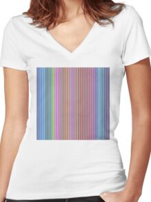 I Am Behind / Io Sono Dietro Women's Fitted V-Neck T-Shirt