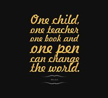 "One child, one teacher...""Malala "" Life Inspirational Quote Classic T-Shirt"