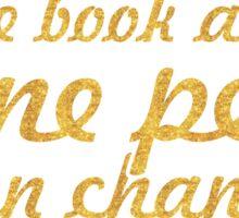 "One child, one teacher...""Malala "" Life Inspirational Quote Sticker"
