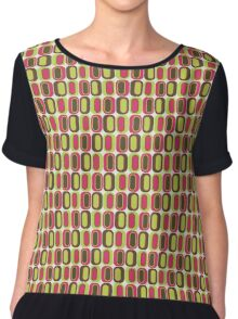 Morose Chartreuse On Eggshells Chiffon Top