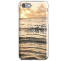 Ocean air & Salty hair iPhone Case/Skin