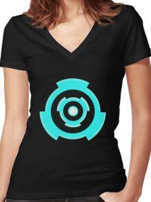 Overwatch Tracer Chronal Accelerator Women's Fitted V-Neck T-Shirt