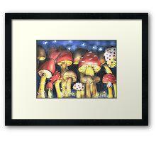 A Night by Mushroom's Light Framed Print