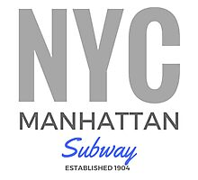 NYC Manhattan Subway Photographic Print