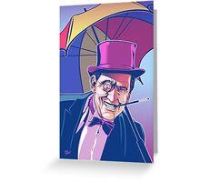 Burgess Meredith Penguin Greeting Card