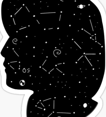dana scully constellations Sticker