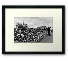 Locking for Love - Paris, France Framed Print
