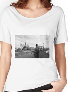 Artist at work - Notre Dame - Paris, France Women's Relaxed Fit T-Shirt