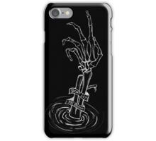 """Don't Let Me Drown"" Skeleton Hand (white on black) iPhone Case/Skin"
