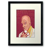 Vincent Price Egghead Framed Print