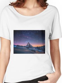 Montain Galaxy Women's Relaxed Fit T-Shirt