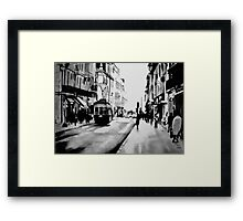 saturday afternoon in the city Framed Print
