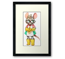 Bubsy Reboot - Virgil Reality Framed Print