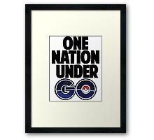 One Nation Under Go  Framed Print