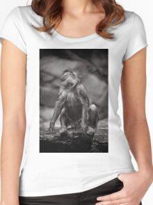 Snow Monkey Shake Down Women's Fitted Scoop T-Shirt