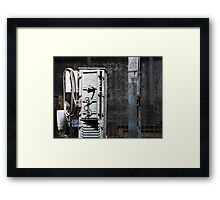 Grungy Old Warehouse Machinery Framed Print