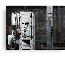 Grungy Old Warehouse Machinery Canvas Print