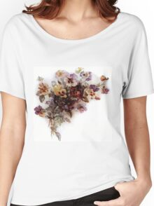 Vintage Pansy Floral Women's Relaxed Fit T-Shirt