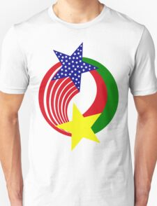 Burkina Faso American Multinational Patriot Flag 2.0 Unisex T-Shirt