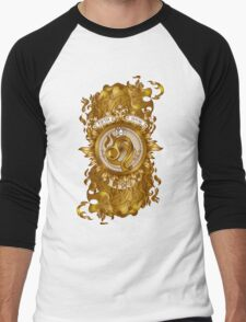 Fiery LEO Zodiac Design (GOLD) Men's Baseball ¾ T-Shirt