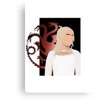 Daenerys Targaryen (GOT Minimalist)  Canvas Print