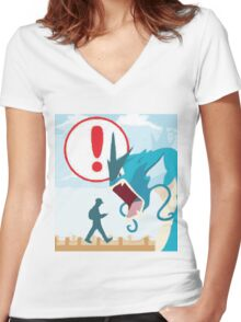Pokemon Go Loading Page Women's Fitted V-Neck T-Shirt